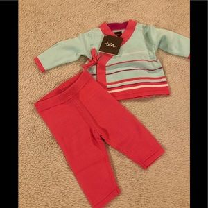 Tea Collection Baby Girl's Sweater Outfit Size 0-3